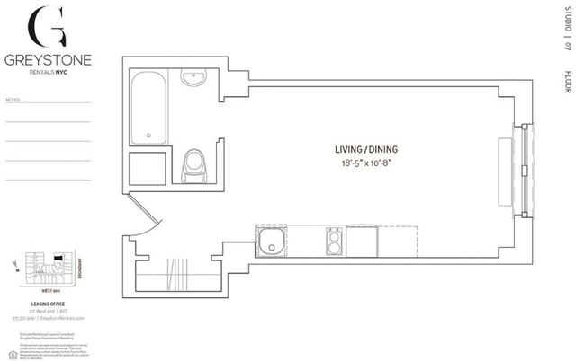 Studio, Upper West Side Rental in NYC for $2,460 - Photo 2