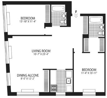 2 Bedrooms, West Village Rental in NYC for $7,288 - Photo 2