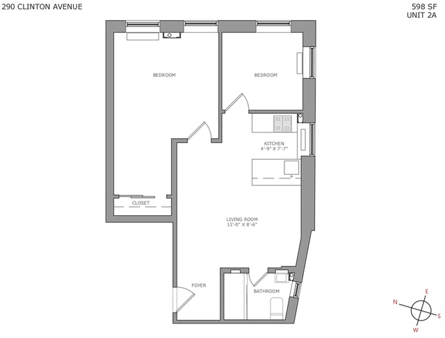 2 Bedrooms, Clinton Hill Rental in NYC for $3,019 - Photo 2