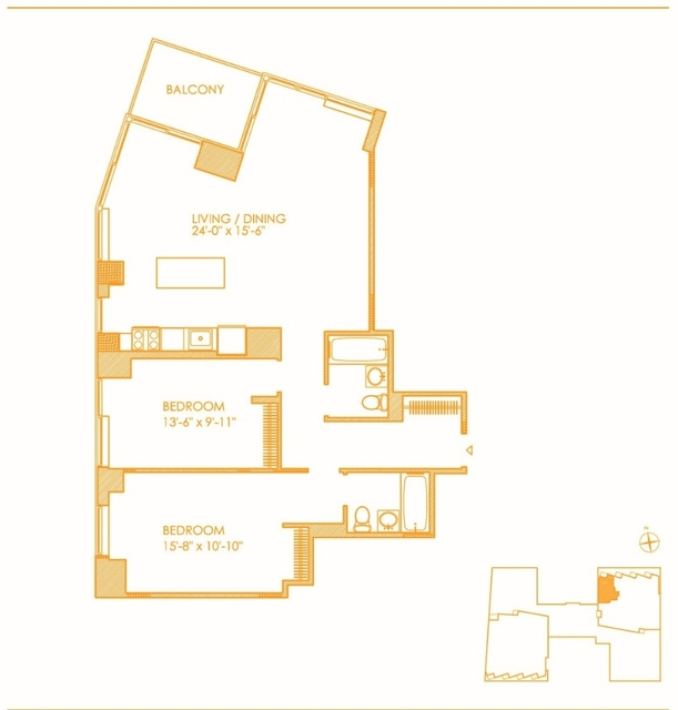 Room, Hell's Kitchen Rental in NYC for $2,325 - Photo 2