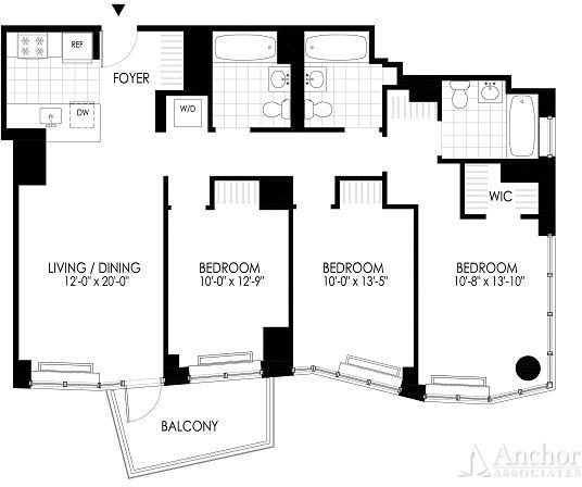 3 Bedrooms, Hunters Point Rental in NYC for $5,583 - Photo 2