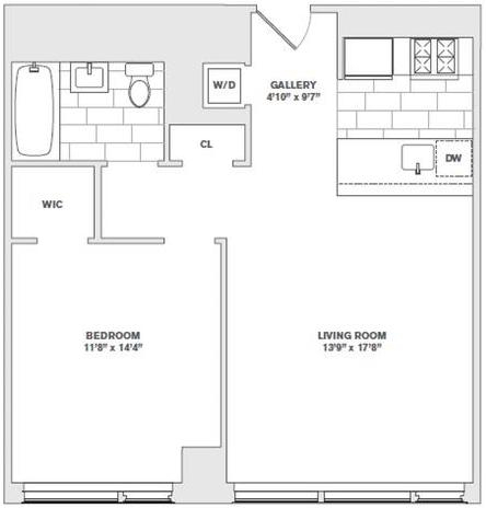 1 Bedroom, Financial District Rental in NYC for $4,570 - Photo 1