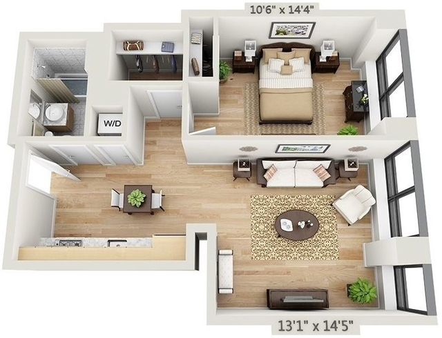 1 Bedroom, Financial District Rental in NYC for $4,297 - Photo 2