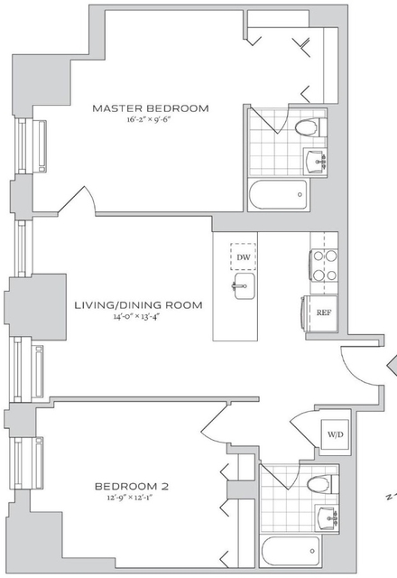 2 Bedrooms, Financial District Rental in NYC for $6,004 - Photo 2