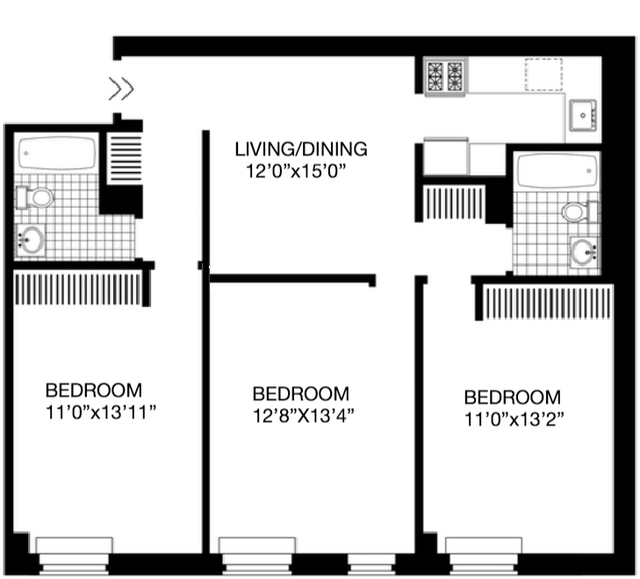 2 Bedrooms, Hell's Kitchen Rental in NYC for $5,262 - Photo 2