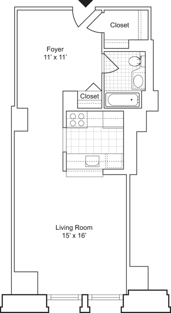 Studio, Financial District Rental in NYC for $3,187 - Photo 2