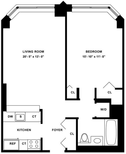 1 Bedroom, Tribeca Rental in NYC for $4,722 - Photo 2