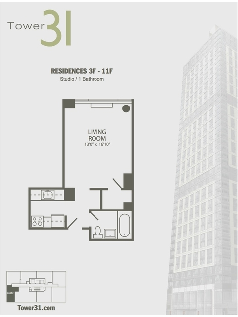 Studio, Koreatown Rental in NYC for $3,350 - Photo 1
