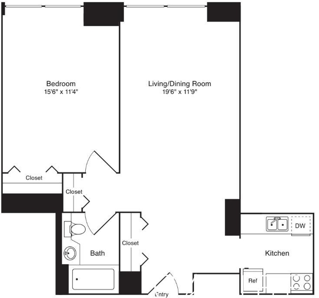 1 Bedroom, Lincoln Square Rental in NYC for $3,380 - Photo 1