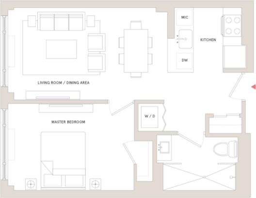 1 Bedroom, DUMBO Rental in NYC for $3,411 - Photo 2