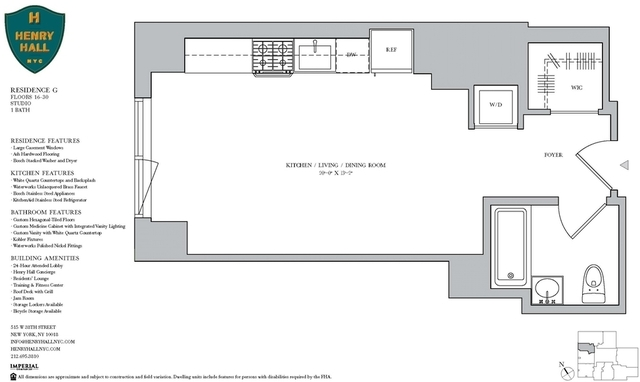 Studio, Hell's Kitchen Rental in NYC for $3,426 - Photo 2