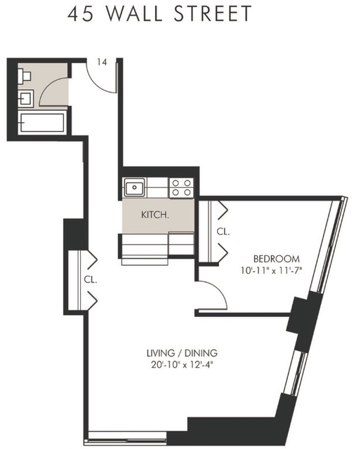 1 Bedroom, Civic Center Rental in NYC for $3,663 - Photo 2