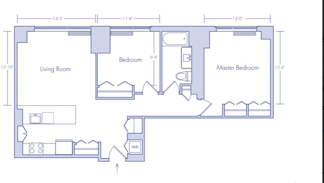 2 Bedrooms, Chelsea Rental in NYC for $5,429 - Photo 2