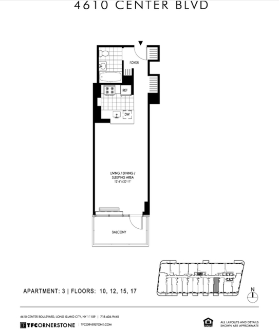 Studio, Hunters Point Rental in NYC for $3,007 - Photo 2