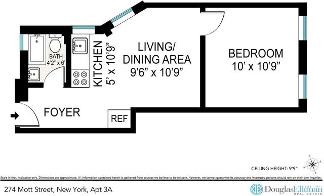 1 Bedroom, NoLita Rental in NYC for $3,225 - Photo 2