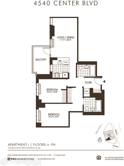 2 Bedrooms, Hunters Point Rental in NYC for $5,032 - Photo 2