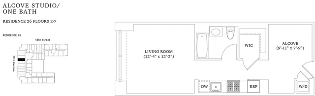 Studio, Hell's Kitchen Rental in NYC for $3,485 - Photo 2