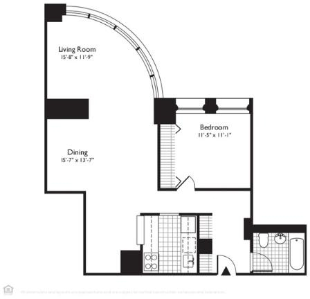 1 Bedroom, Financial District Rental in NYC for $5,169 - Photo 2