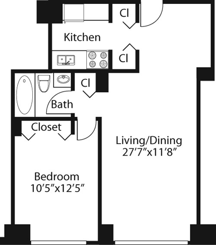 1 Bedroom, Rose Hill Rental in NYC for $3,647 - Photo 1