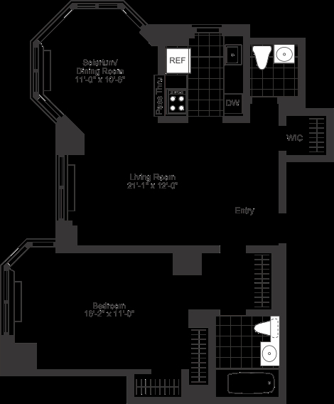 1 Bedroom, Tribeca Rental in NYC for $5,905 - Photo 2