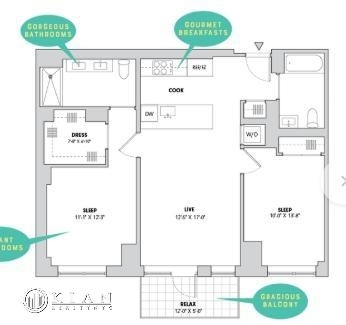 2 Bedrooms, Alphabet City Rental in NYC for $6,796 - Photo 1