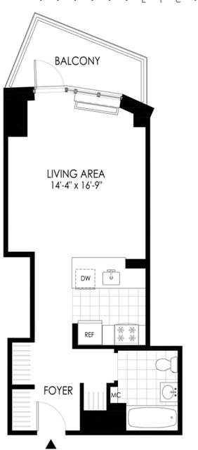 Studio, Hunters Point Rental in NYC for $2,746 - Photo 2