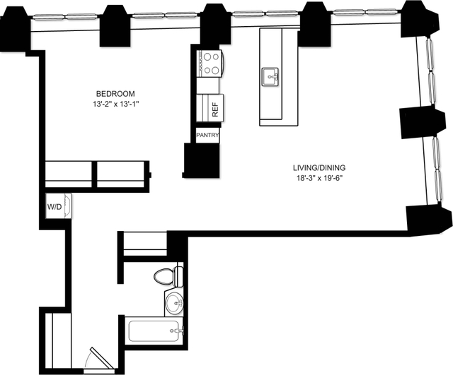 Room, Financial District Rental in NYC for $4,387 - Photo 2