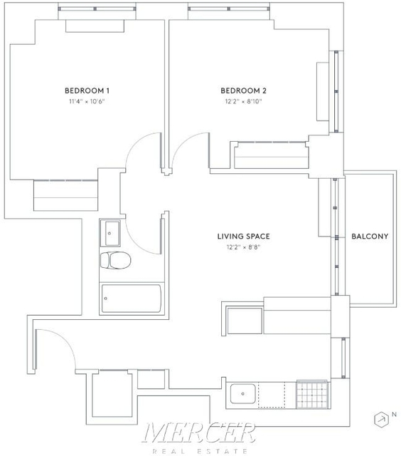 2 Bedrooms, Hell's Kitchen Rental in NYC for $4,011 - Photo 2