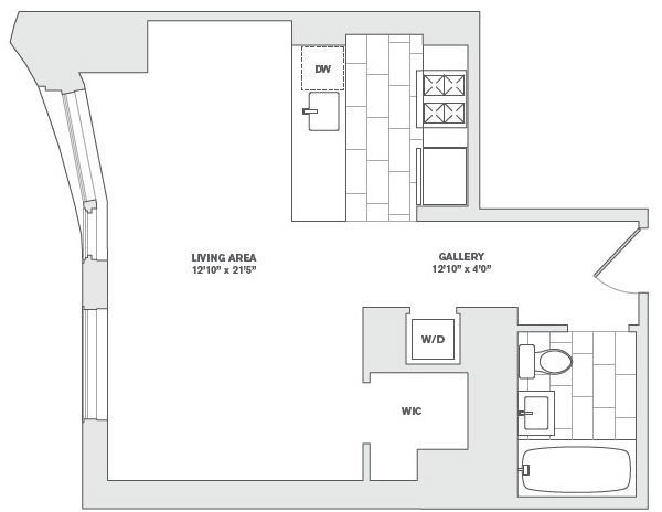 Studio, Financial District Rental in NYC for $3,420 - Photo 2