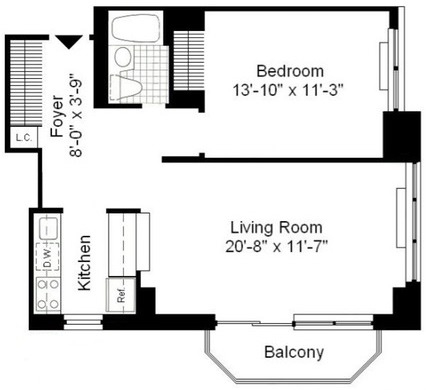1 Bedroom, Theater District Rental in NYC for $3,570 - Photo 2