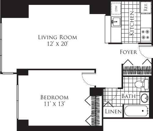 1 Bedroom, Hell's Kitchen Rental in NYC for $3,561 - Photo 2