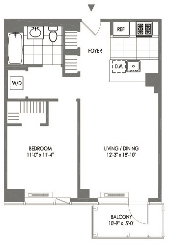 1 Bedroom, Long Island City Rental in NYC for $3,394 - Photo 2