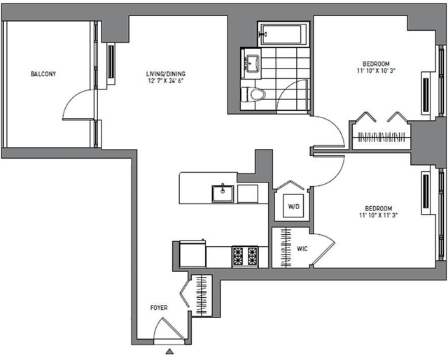2 Bedrooms, Long Island City Rental in NYC for $3,877 - Photo 2