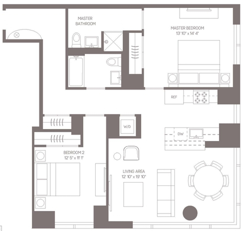2 Bedrooms, Hell's Kitchen Rental in NYC for $6,378 - Photo 2