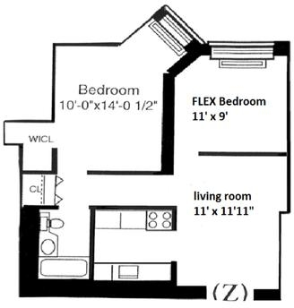 1 Bedroom, Battery Park City Rental in NYC for $3,200 - Photo 2