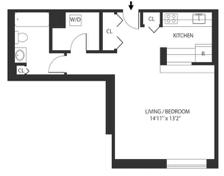 Studio, West Village Rental in NYC for $3,531 - Photo 2