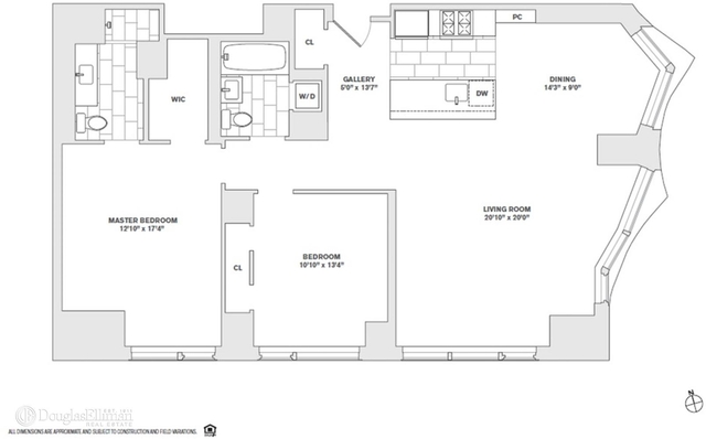 2 Bedrooms, Financial District Rental in NYC for $8,610 - Photo 1