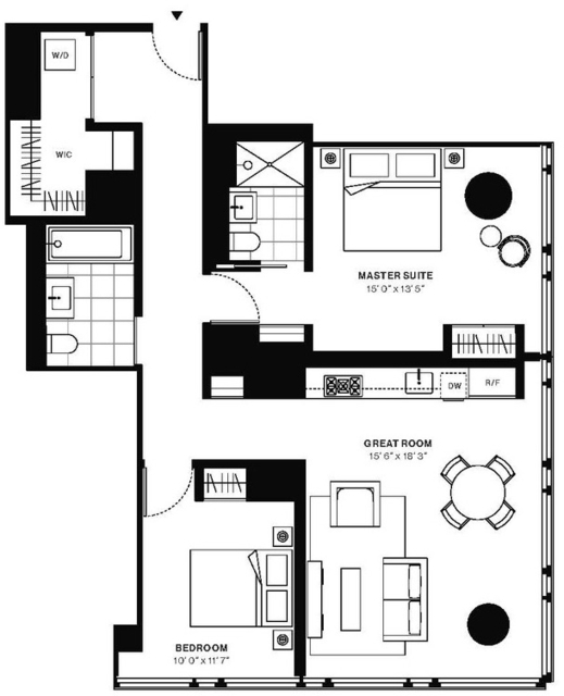 2 Bedrooms, Murray Hill Rental in NYC for $6,283 - Photo 2