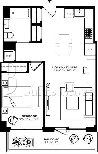 1 Bedroom, Greenpoint Rental in NYC for $3,578 - Photo 2