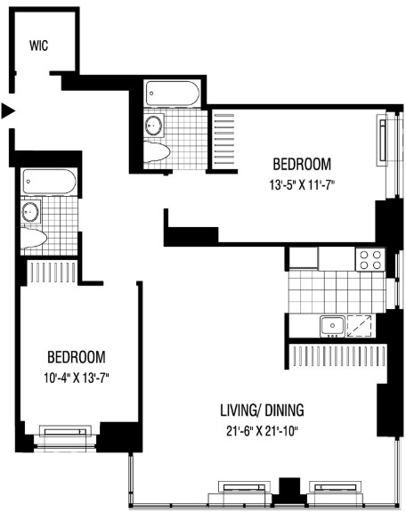 2 Bedrooms, Financial District Rental in NYC for $6,279 - Photo 2