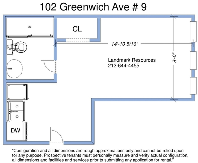 Studio, West Village Rental in NYC for $2,495 - Photo 2