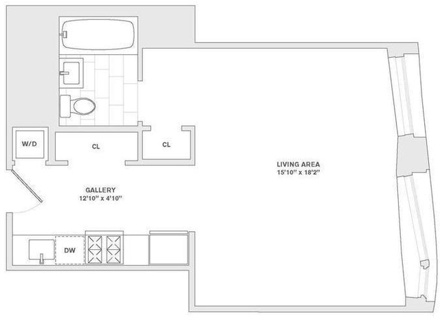 Studio, Financial District Rental in NYC for $4,030 - Photo 1