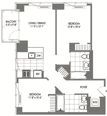 2 Bedrooms, Long Island City Rental in NYC for $4,982 - Photo 2