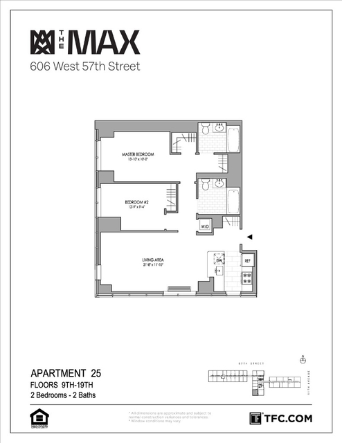 2 Bedrooms, Hell's Kitchen Rental in NYC for $5,138 - Photo 2