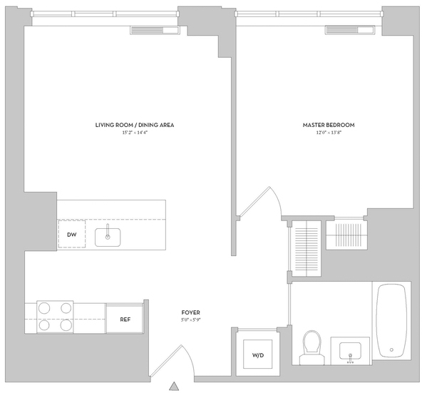 1 Bedroom, Lincoln Square Rental in NYC for $4,135 - Photo 2