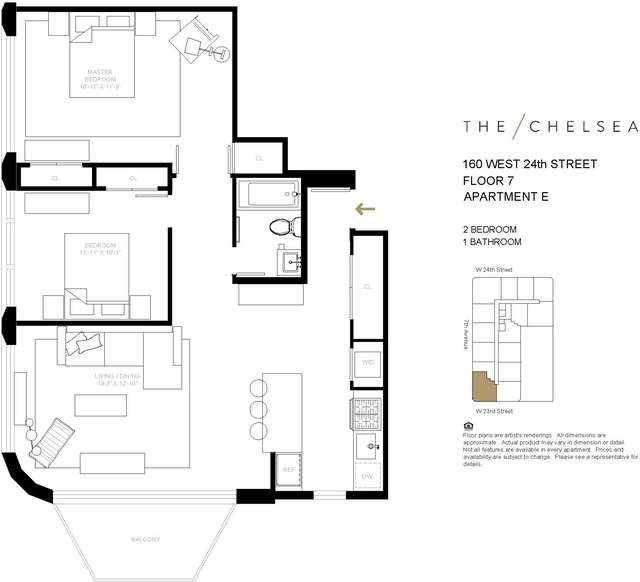 2 Bedrooms, Chelsea Rental in NYC for $7,215 - Photo 2