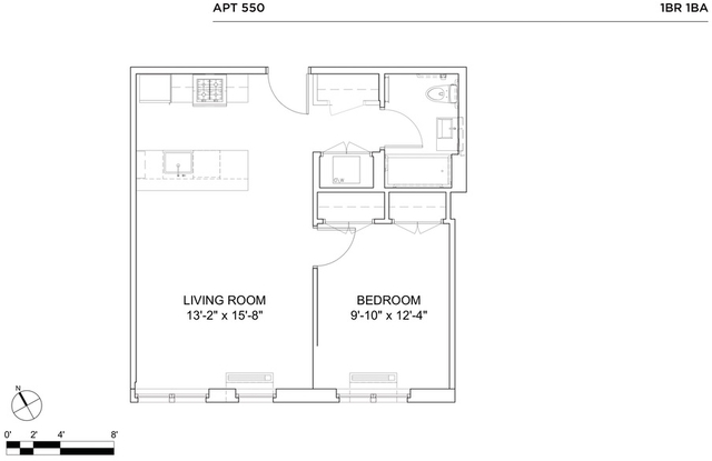 1 Bedroom, Hell's Kitchen Rental in NYC for $3,584 - Photo 2