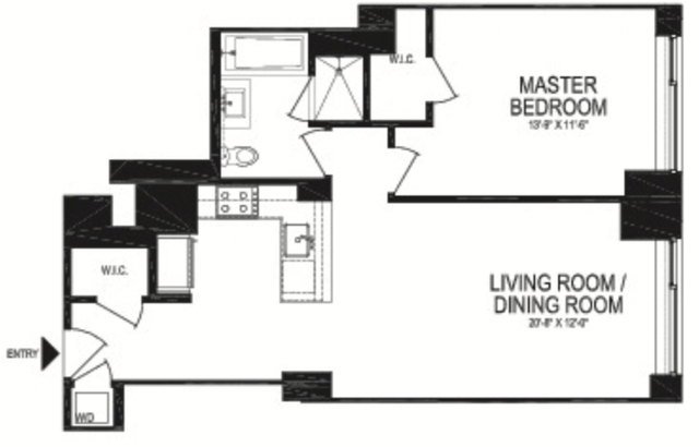 1 Bedroom, Battery Park City Rental in NYC for $4,949 - Photo 2