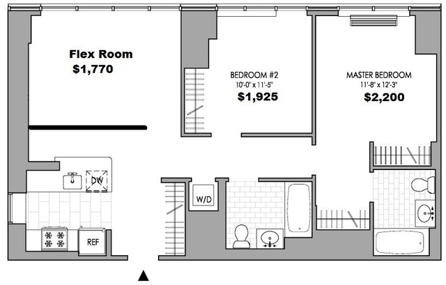Room, Hell's Kitchen Rental in NYC for $1,517 - Photo 2