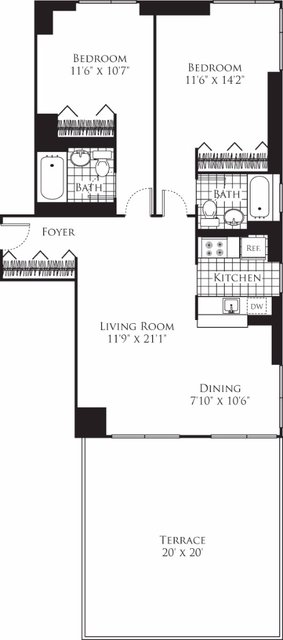 2 Bedrooms, Chelsea Rental in NYC for $6,424 - Photo 2
